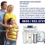 Spórolás az ozmózis víztisztító készülékek által